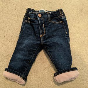 Old Navy Fleece-Lined Straight Jeans